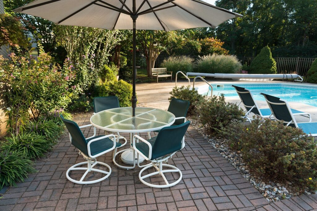 pool deck installation pool deck ideas New Bern NC pool deck design pool pavers and coping